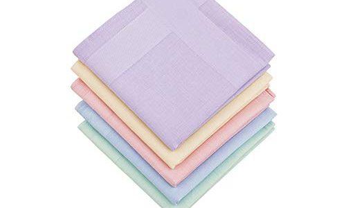 16×16/40×40 cm – mehrfarbig – HOULIFE Taschentücher für Damen, 100% Baumwolle, 60er-Jahre, einfarbig, für Hochzeit, Party, 40,6 x 40,6 cm