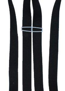 Alex Flittner Designs 4 Clips Hosenträger in schwarz mit starken Clipsen 3,5cm breit für Damen und Herren | Bandlänge 150cm