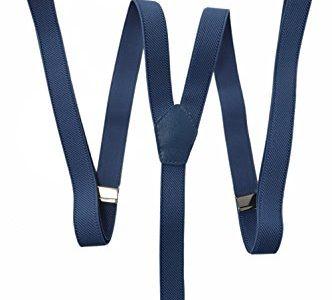 Modell 'Skinny' 2cm. Blau – Hosenträger mit 3 Clips
