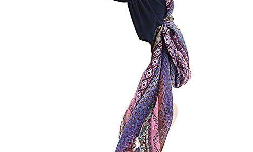 GUIFIER Kopfbedeckung Sommer Chemo Damen Muslim Turban ,Chiffon Hut Boho Kopftuch Stirnband Head Wrap Scarf, Kopfbedeckungen bei Chemotherapie für Haarverlust Frauen