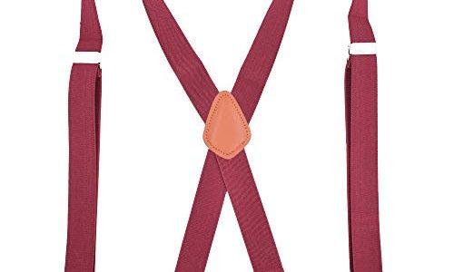 Xiang Ru X-Form 3.5x120cm Mit 4 Haken Hosenträger Längenverstellbar für Damen Herren Dunkelgrau