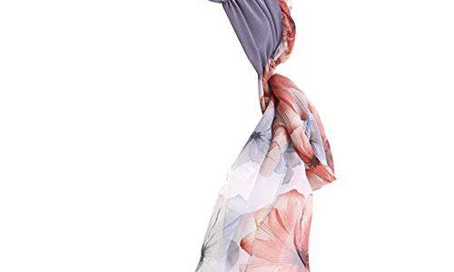 GUIFIER Kopfbedeckung Sommer Chemo Damen Muslim Turban,Chiffon Hut Boho Kopftuch Stirnband Head Wrap Scarf, Kopfbedeckungen bei Chemotherapie für Haarverlust Frauen