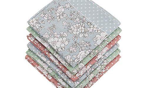 18×18/45×45 cm – HOULIFE Taschentücher für Damen, 100% Baumwolle, 60er Jahre, Blumendruck, 45,7 x 45,7 cm – mehrfarbig