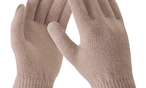 Bequemer Laden Damen Winter Warme Touchscreen Handschuhe Gedehnt Kaschmir Magie Handschuh Fleece Stretch Strick Dicke Handschuhe Outdoor Winterhandschuhe für Frauen, Kamel, Einheitsgröße