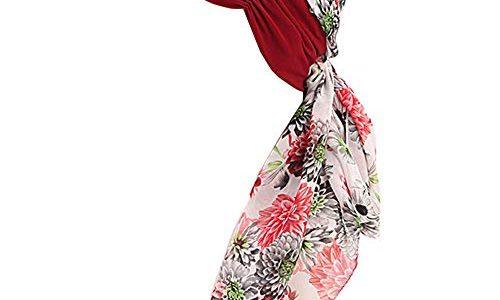 GUIFIER Krebs Kopfbedeckung Headwrap Schals Gap,Frauenkopfbedeckung Turban Headwrap Bandana Damen Chiffon Kopftuch Frauen Für Chemo, Haarausfall, Schlaf