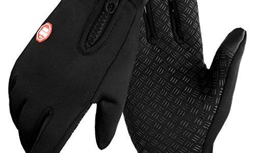 Touchscreen Handschuhe Herren Winter Lederhandschuhe Smartphone Winterhandschuhe Herren oder Damen Wasserdichte Handschuhe Sport Fitness Wasserfest for Reithandschuhe Fahrradhandschuhe Männer Frauen