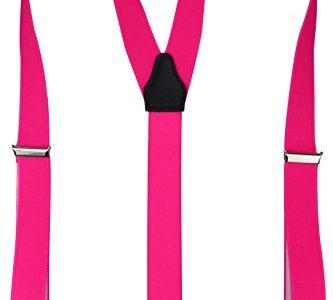 Alex Flittner Designs Hochwertige Hosenträger mit starken Clips 35mm in neonpink