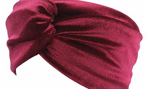 Retro velvet knoten Haarband Kopfband Stirnband Haarreif Haargummi Samtstirnband Kopftuch turban Yoga Sport Damen weinrot