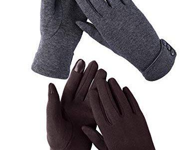 Aibrou Touchscreen Handschuhe Damen Winterhandschuhe Fahrradschuhe Frauen Handschuhe Winter Warm Handschuhe mit Fleecefutter