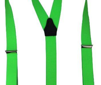 Alex Flittner Designs Hochwertige Hosenträger mit starken Clips 35mm in neongrün