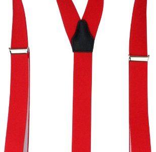 Alex Flittner Designs Hochwertige Hosenträger mit starken Clips 35mm in rot
