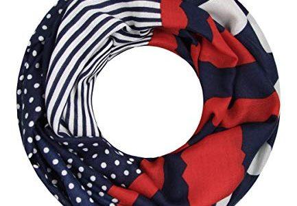 Majea Loop Schal Damen Schlauchschal – modischer Loopschal – Halstücher blau 7 – viele Farben