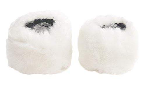 Pelz Ärmel, Pulswärmer Fell,1 Para Mode Winter Warme Gemütliche Frauen Faux Kaninchenfell Kurze Handgelenkmanschetten Stulpen fellkragen für Winter Kleidung Hülse Dekoration Weiß