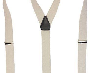 Alex Flittner Designs Hochwertige Hosenträger mit starken Clips 35mm in grau