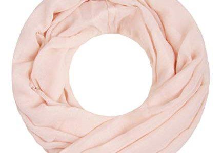 Majea Loop Cary Basic Schal Tuch Damen-schal Schlauchschal Rundschal Halstücher uni unifarben Loopschal einfarbig puder