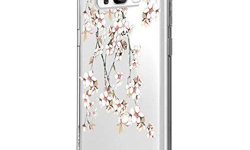 Marmor & Blume S8, 29 – Riyeri Hülle Compatible with Samsung Galaxy S8 Hülle Klar Slim TPU Silikon Bumper Handyhülle für Samsung S8 Plus