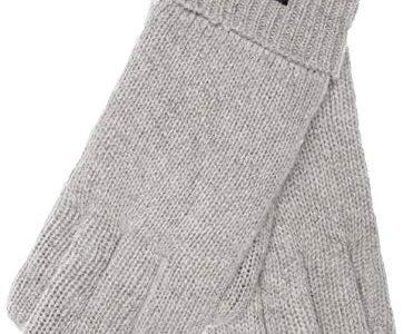 EEM Damen Strick Handschuhe JETTE mit Thinsulate Thermofutter aus Polyester, Strickmaterial aus 100% Wolle; grau-meliert, M