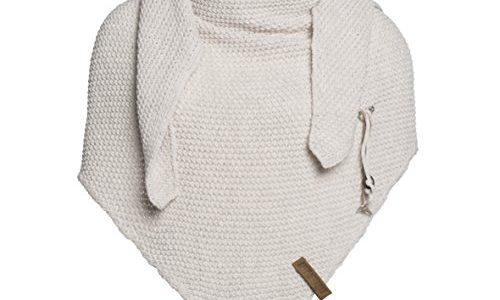 Knit Factory Damen Dreieckschal Coco beige 190×85 cm