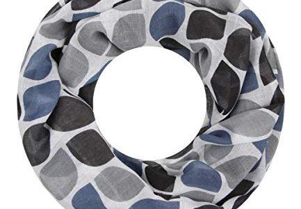 Majea Loop Schal Damen Schlauchschal – Halstücher schwarz 6 – modischer Loopschal – viele Farben