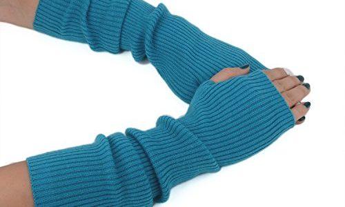 Zelta Damen Armwärmer Gr. Medium, himmelblau