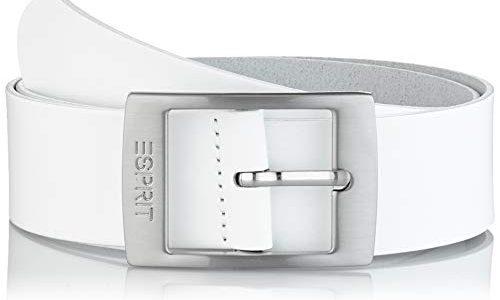 Esprit Accessoires Damen 999EA1S807 Gürtel,, per pack Weiß WHITE 100, 95|#95|#6651 Herstellergröße: 95