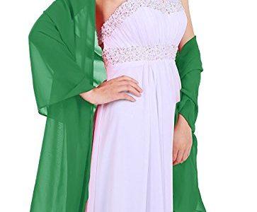 Dressystar Chiffon Stola Schal für Kleider in verschiedenen Farben Grün 160cm*50cm