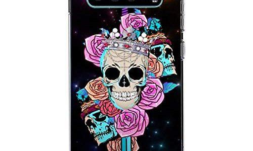 3Ciker Hülle kompatibel für Samsung Galaxy S10 Handyhülle,Halloween-Schädel Silikon Crystal Clear Transparent Ultra Slim Flexible Luftkissen Schutzhülle für Samsung Galaxy S10 Handy Case
