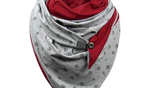 Lemooner Damen Schal Frauen Schal Mit Knöpfen Schal En Coton Geblümt Persönlichkeit Mode Schal Valentinstag Geschenk