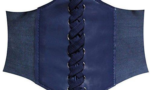 HANERDUN Damen elastischen Retro Gürtel Korsett mit Klettverschluss Taille Hüftgurt Vier Größen, Navy Blau, S