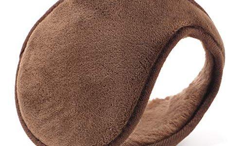 YQXCC Ohrwärmer für Männer & Frauen Klassische Fleece Unisex Winter warme Ohrenschützer Kaffee