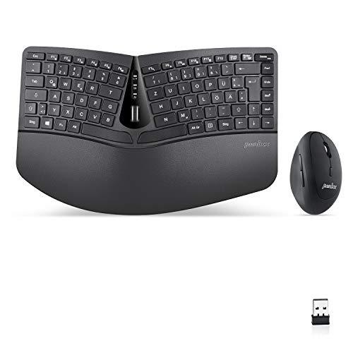 Top 10 Kabellose ergonomische Tastatur und Vertikale Maus Desktop Set – Maus & Tastatur Sets